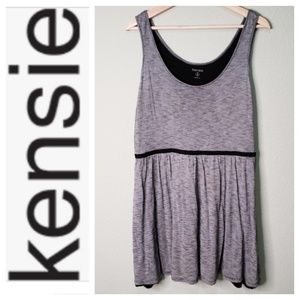Kensie Comfy Black and White Striped Dress C39